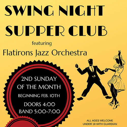 Denver Big Band plays Swing Night Supper Club at the Buffalo Rose