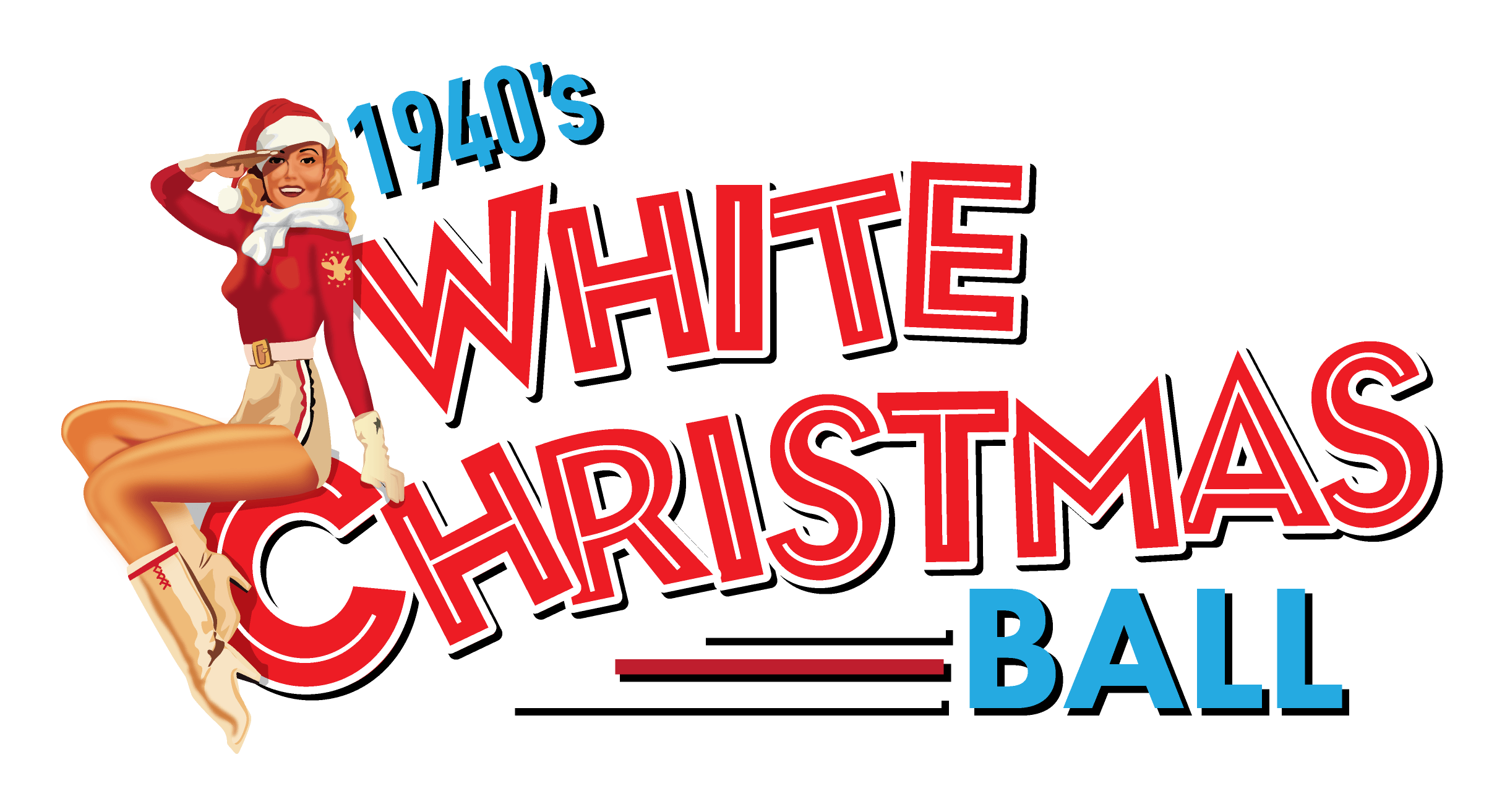 1940s White Christmas Ball logo